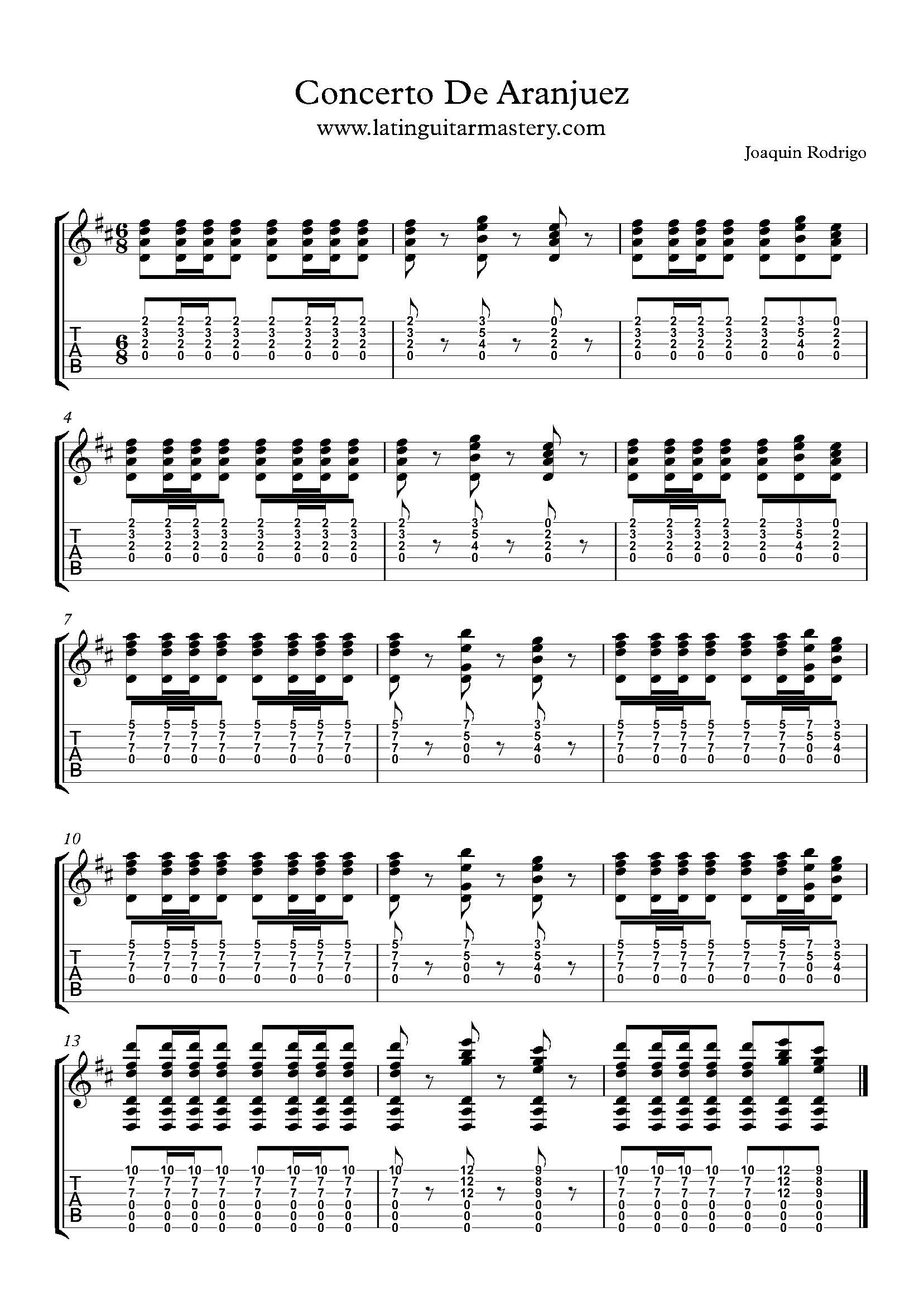 Concerto De Aranjuez Intro Latin Guitar Mastery